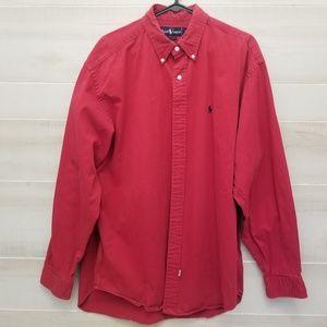 {XL} Ralph Lauren Red Button Down Shirt